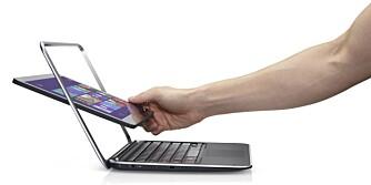 KONVERTIBEL: Dell XPS Duo 12 er et eksempel på en såkalt konvertibel laptop. Dette blir det mer av framover, skal vi tro Intel.
