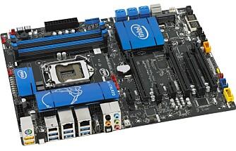 HASWELL: Dette Intel-hovedkortet sammen med prosessoren Core i7-4770K har vi nettopp fått inn til test. Førsteinntrykket er meget bra.