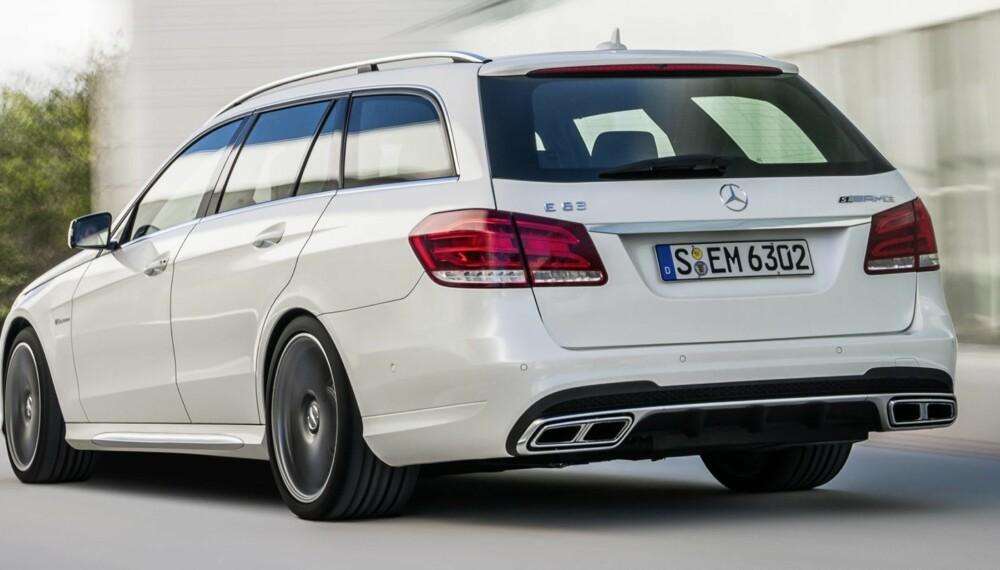 SÆRDELES: Mercedes E63 AMG S 4Matic er nå tilgjengelig for norske kunder. FOTO: Daimler AG