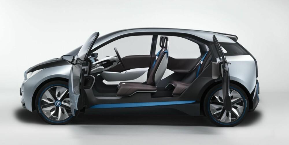 LETT TILGANG: Denne dørtypen skal gjøre det lett og å gå inn i / ut av en i3. FOTO: BMW