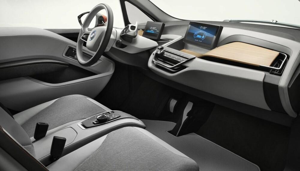"""LOUNGE? Kupéen i i3 er luftig og romslig, og skal i følge BMW gi en """"""""lounge""""""""-følelse. FOTO: BMW"""