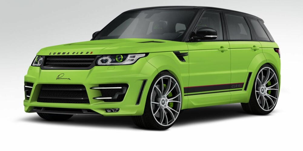 SPORT: CLR RS er navnet på Lummas syn på Range Rover Sport. FOTO: Lumma