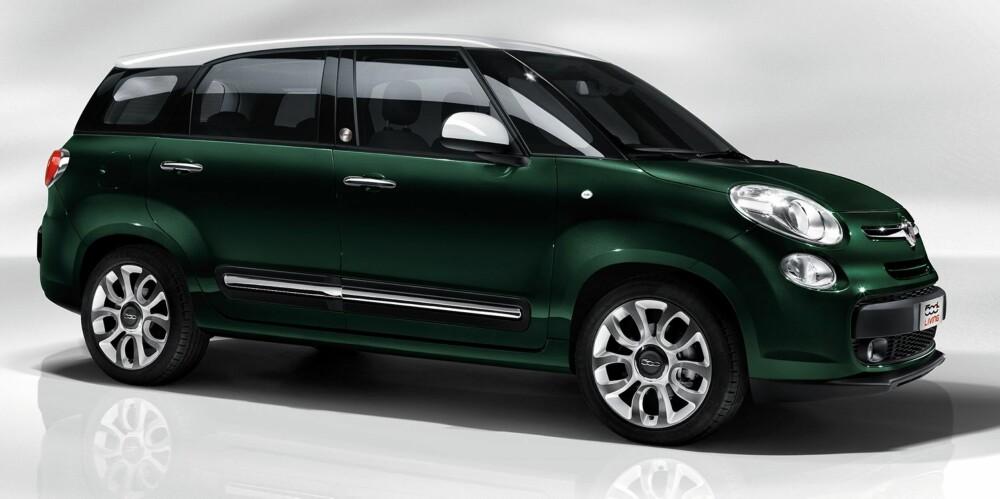 LARGE: Fiat 500 L Living er en flerbruksvariant av ikoniske Fiat 500. Foto: Fiat