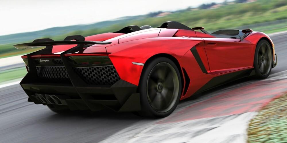 GANSKE ÅPEN: Lamborghini Aventador J. FOTO: Produsent