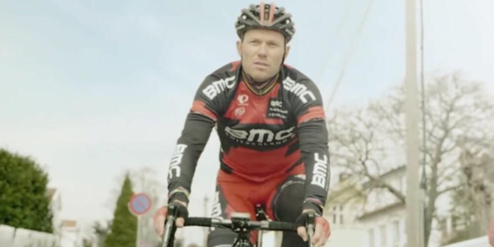FRONTPERSON: Selveste Thor Hushovd fronter kampanjen Del veien. FOTO: Statens vegvesen