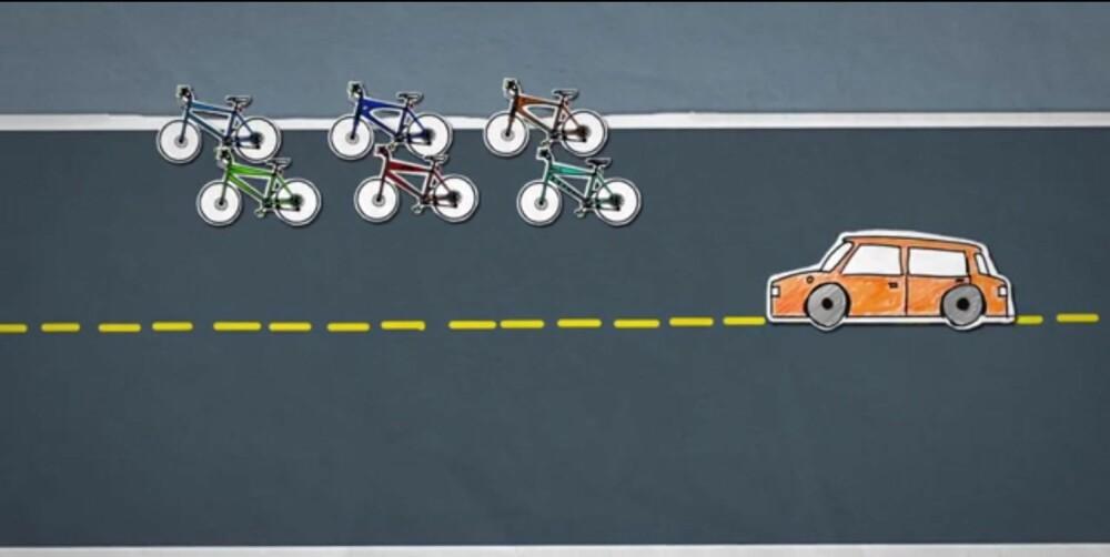 GUIDE: Slik skal det gjøres på landeveien. ILLUSTRASJON: Statens vegvesen