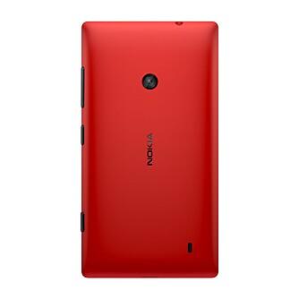 ENKELT: Nokia Lumia 520 har et enkelt kamera på 5 megapiksler uten fotolys. Noe frontkamera for videosamtaler finnes heller ikke.