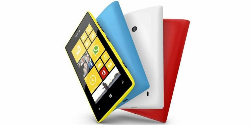FARGERIK: Tradisjonen tro tilbyr Nokia Lumia 520 i fargerike varianter.