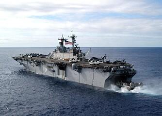 USS Kearsarge kan landsette en bataljon marinesoldater med luftstøtte hvor som helst i verden.