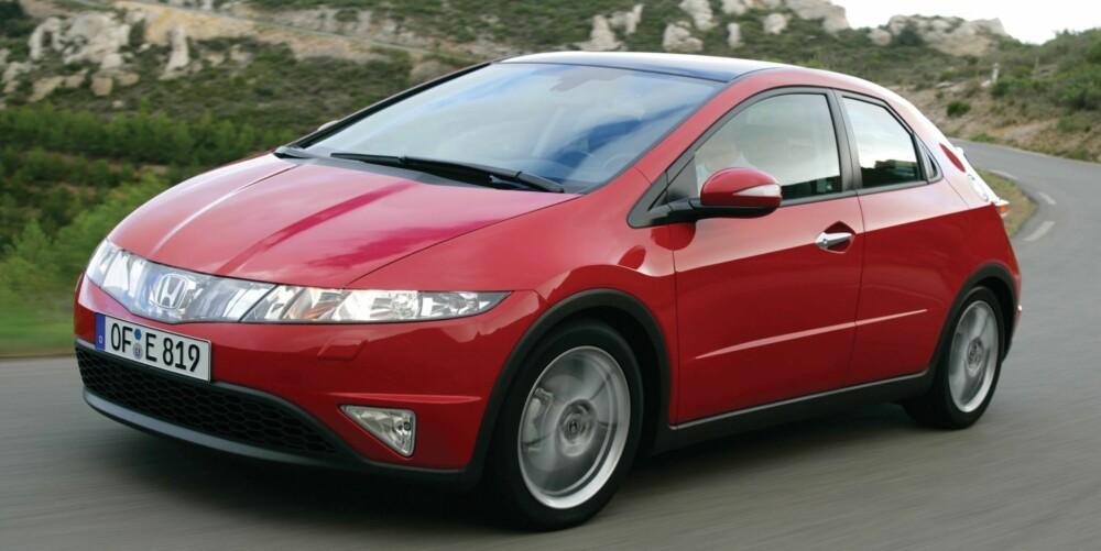 ANNERLEDES: Honda Civic er ikke mainstream når det gjelder design og løsninger, men kvaliteten er mege god: Foto: Honda