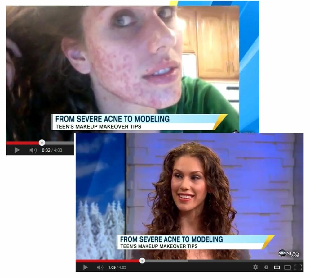 PÅ NYHETENE: Youtube-fenomenet Cassandra Bankson fikk også plass i tv-ruta da amerikanske ABC News intervjuet henne på morgentv i 2011.