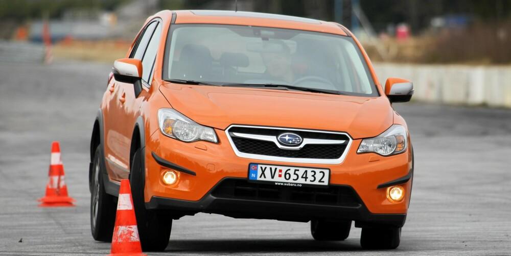 SUV-SUG: Subaru XV er mye raskere med 2,0D enn 1,6 bensin. FOTO: Petter Handeland