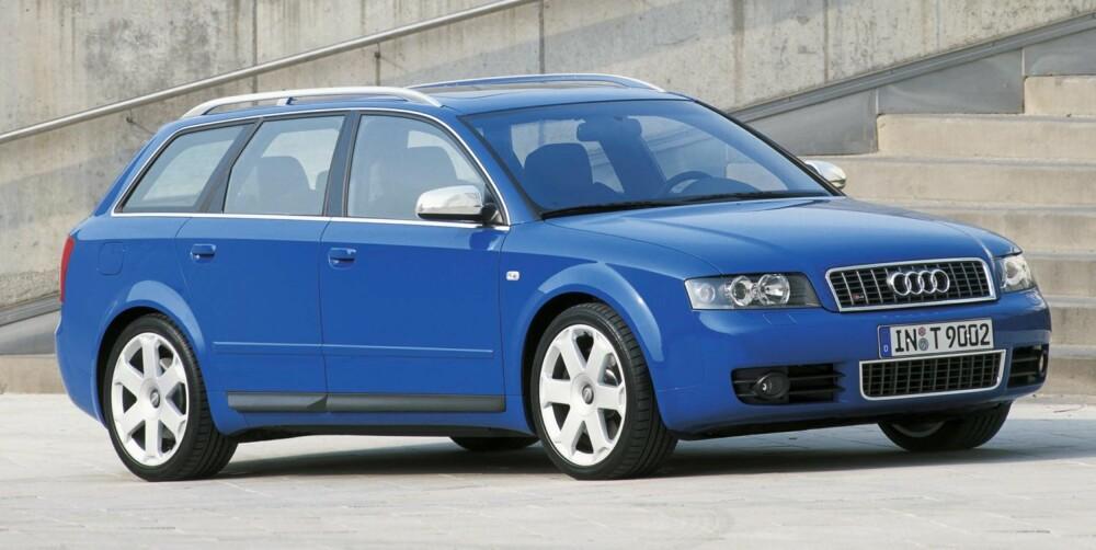 LITE UTVALG: Audi A4 fra 2002-2005 er en god bruktbil, ifølge Dekra, men utvalget kan være lite. FOTO: Audi