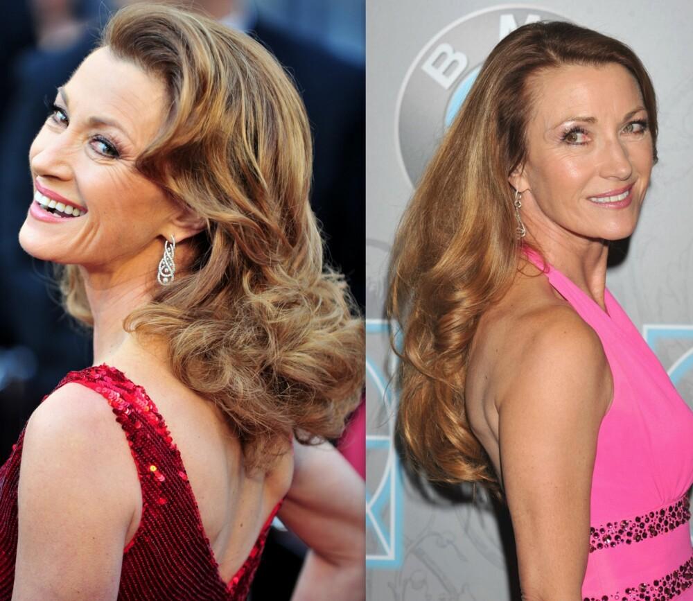 TYKT HÅR: På samme måte som noen ikke får mye rynker, har andre fyldig og sterkt hår lengre enn andre, akkurat som vakre Jane Seymour i en alder av 62.