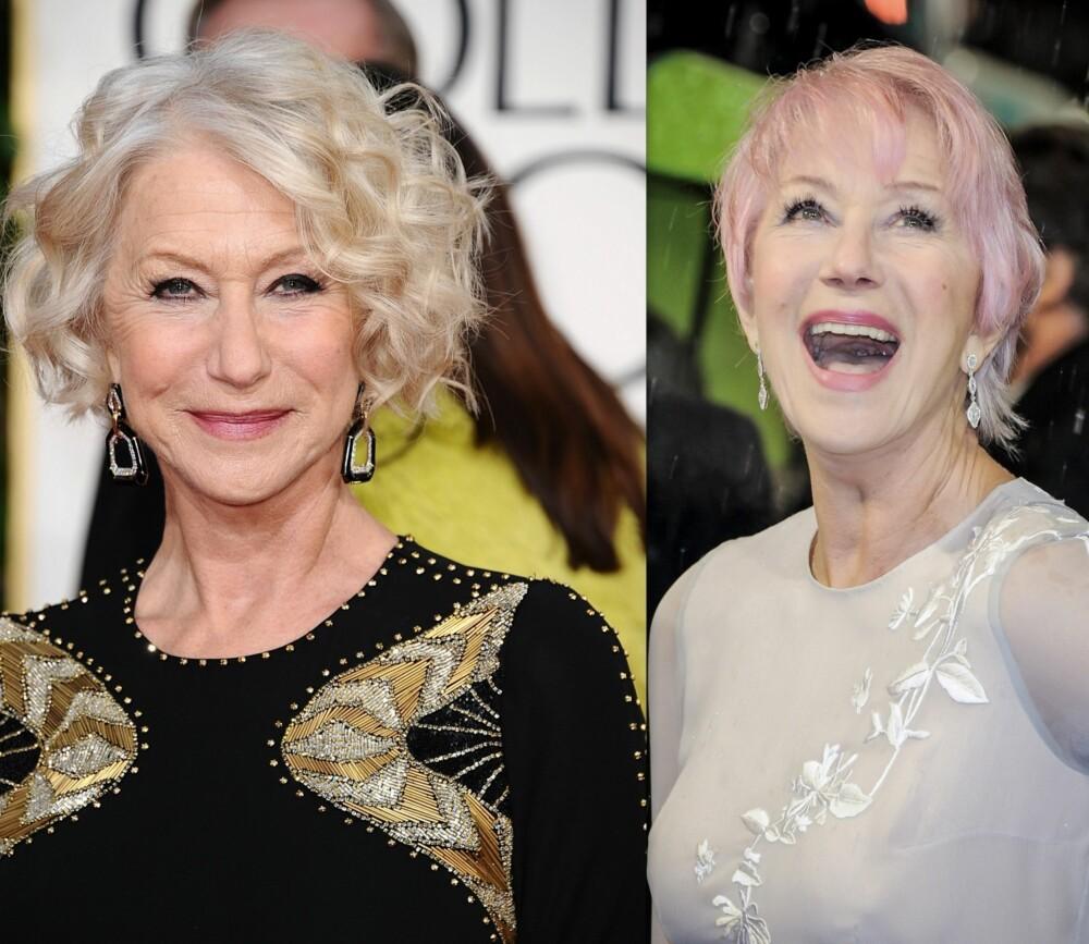 TØFF I HÅRVEIEN: Den dyktige og vakre skuespilleren Helen Mirren våger å satse på tøffe hårfrisyrer, noe som virkelig får henne til å se langt yngre ut enn sine 68 år!