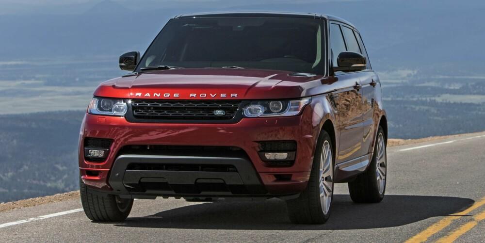REKORD: Klatreracet Pikes Peak går straks av stabelen, men Land Rover tyvstartet begivenheten med nye Range Rover Sport, og hevder at den er den raskeste serieproduserte SUV-en som noensinne har kjørt Pikes Peak-løypa. FOTO: Dom Romney