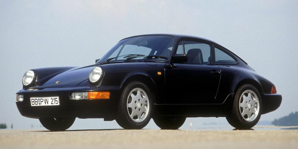 964: Tredje generasjon 911, lansert i 1988, fikk internnummeret 964. FOTO: Porsche