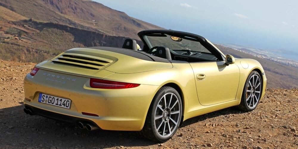 911-ØYEBLIKKET: Porsche 911 Carrera S Cabriolet. FOTO: Petter Handeland