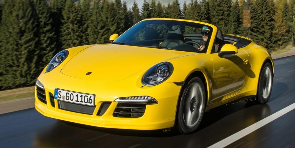 911-ØYEBLIKKET: Porsche 911 Carrera 4S Cabriolet. FOTO: Porsche