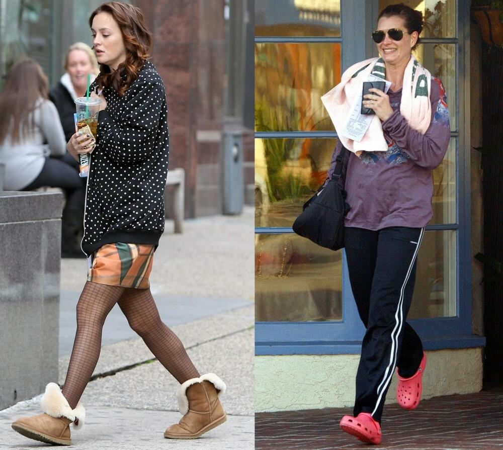 ANDRE OG TREDJE PLASS: Ifølge gutta er det nest verste du kan ikle deg av sko, Uggs og Crocs.