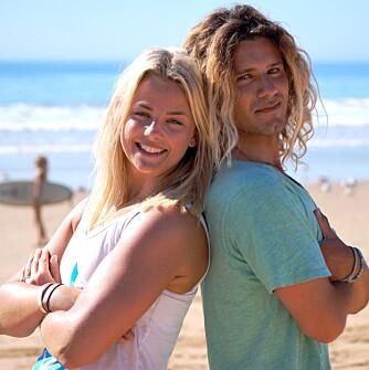 TRENERNE: Programmet er satt sammen av ShapeUps reporter Pia Seeberg, som også er personlig trener hos Evo Fitness, og João Durão, surfeinstruktør og profesjonell surfer.
