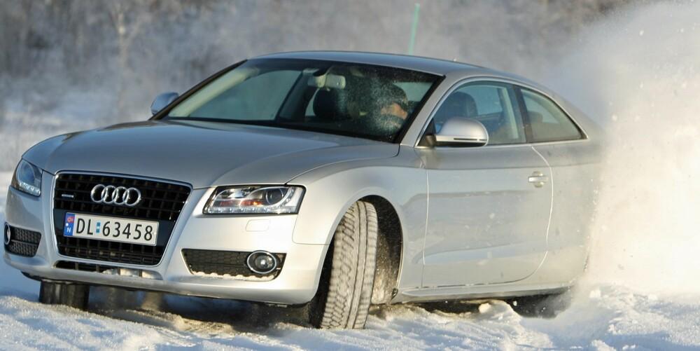 UNNTAKET: Hvite biler taper seg raskere i verdi enn tilsvarende modeller i andre farger. Men det finnes unntak. En bil med riktig design og riktig utstyr, for eksempel Audi A5, holder seg like godt i verdi som hvit.