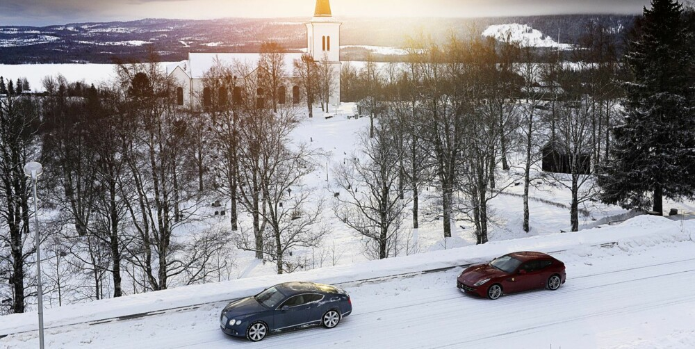 BACKCOUNTRY: Uvante omgivelser for slike biler, men de er slett ikke bambier på isen.
