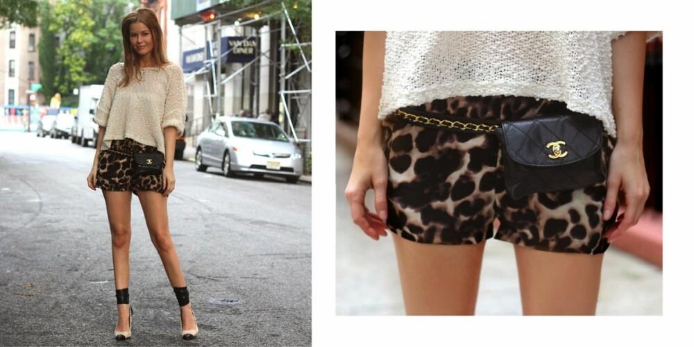 INSPIRASJON: Annette Haga elsker å mikse billig og dyrt.  Her i shorts fra NeverNaked og veske fra Chanel.