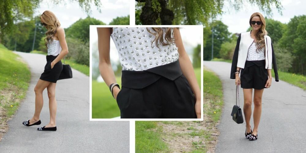 INSPIRASJON: Gravid, men forsatt like fin og moteriktig.  Her har Caroline Eriksen på seg en shorts fra DKNY.