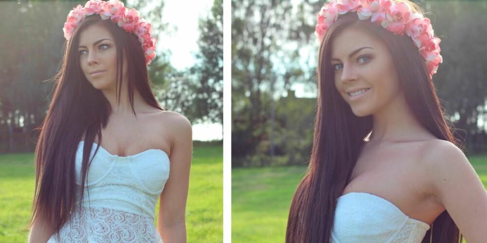 NY TOPPBLOGGER: Søte Stina Bakken klatrer på blogglistene. Nå er hun fan av blomsterkrans i håret.