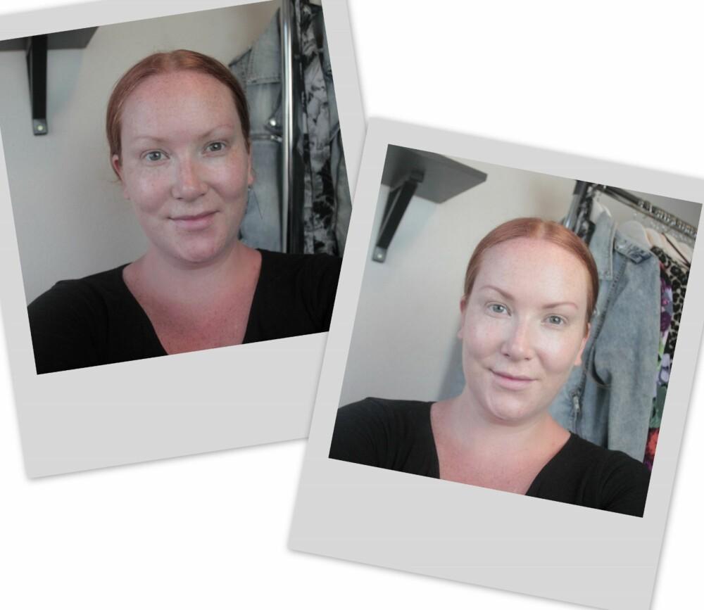 NATURLIG: Selv om man bruker både foundation, concealer og pudder - så kan man få til en naturlig hud ved bruk av riktig farge, produkt og teknikk.