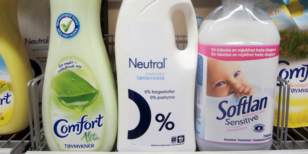 VALGENE ER MANGE: Malin Skaar understeker at det finnes tøymyknere for alle behov og hudtyper.