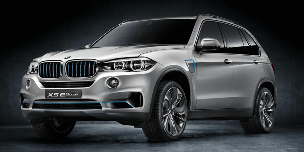 VISES SNART: BMW Concept X5 eDrive vises på bilutstillingen i Frankfurt. FOTO: BMW