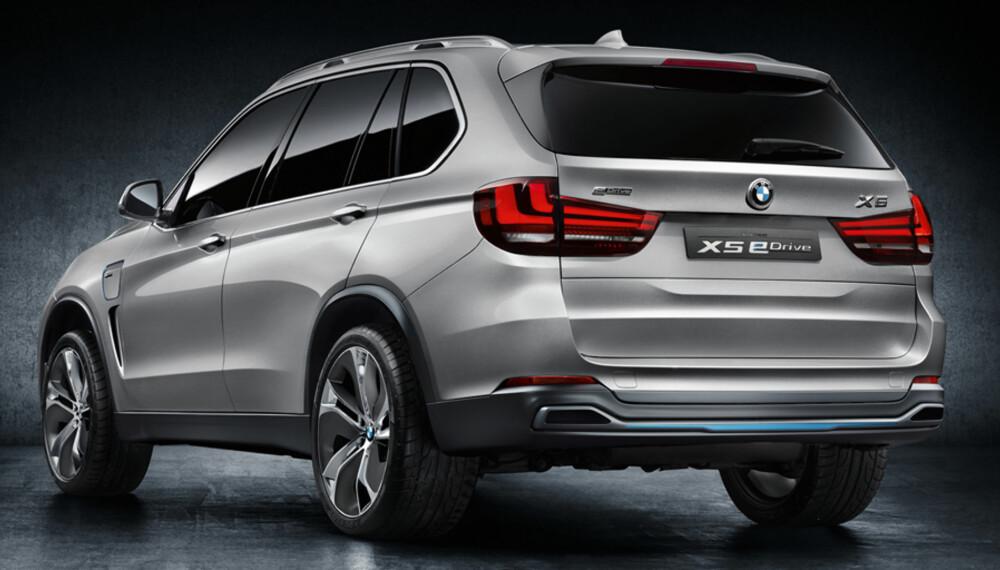 GRØNNERE: Dette er BMW Concept X5 eDrive som har en mer klimavennlig profll enn muskelhybridene i ActiveHybrid-serien. FOTO: BMW