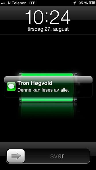 SKRU AV: Med feil innstillinger i Varslingssenteret kan hvem som helst lese innkommende meldinger til din mobil.
