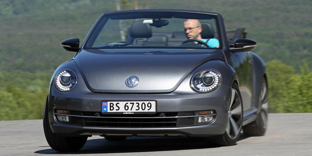 MORSOM EFFEKT: VW har tunet eksosanlegget med en passe dose godbrumming, særlig ved girskift får du et hyggelig lite «boff» fra hekken. FOTO: Petter Handeland