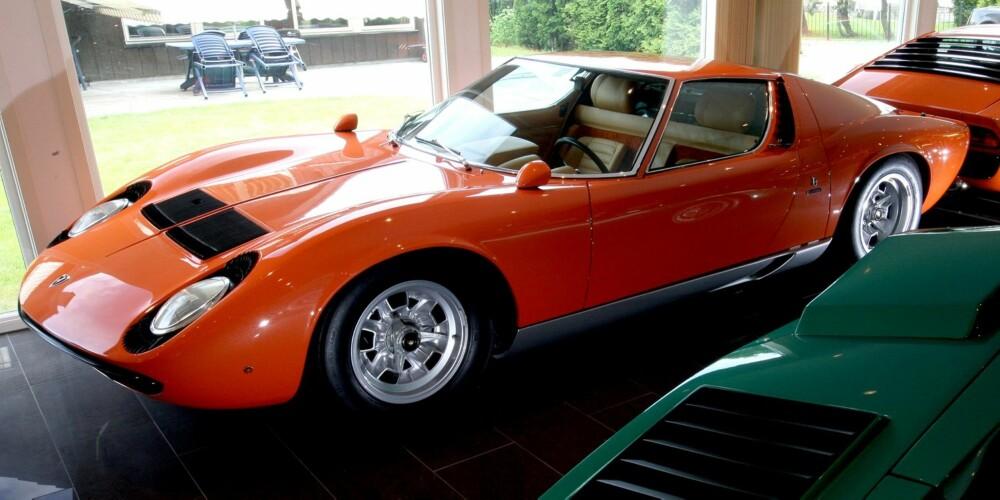 SINATRAS LAMBO: Harald Skjøldts Miura ble ikke bare kåret til vakreste Miura, men den ble senere også kåret til Car of the Show av 350 Lamborghini-er fra alle verdenshjørner. FOTO: Egil Nordlien, HM Foto