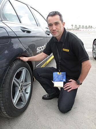 DEKKINGENIØR: Saburo Miyabe, sjefingeniør i Dunlop Tyskland. FOTO: Martin Jansen