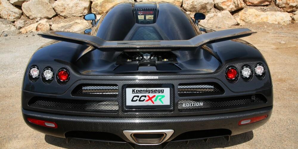 RUDSKOGEN: Karbonmonsteren Koenigsegg CCXR Edition. FOTO: Koenigsegg