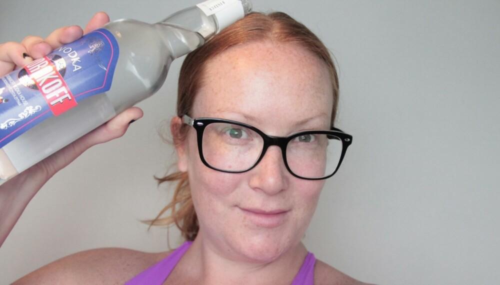 VODKA I HÅRET: Tove vasket håret med vodka. Sjekk hvordan det gikk her...
