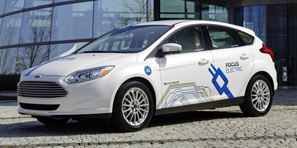 NESTEN VANLIG: Ford Focus Electric er nesten helt som en standard Ford Focus Titanium. FOTO: Ford