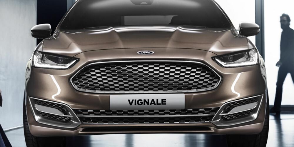 KOMMER: Ford Mondeo kommer til Norge neste år. Ford Mondeo Vignale som stasjonsvogn kommer først i 2015. FOTO: Ford