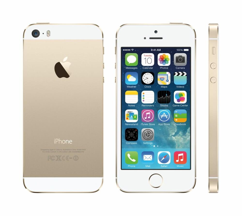 VELKJENT: iPhone 5S kommer i flere fargenyanser.