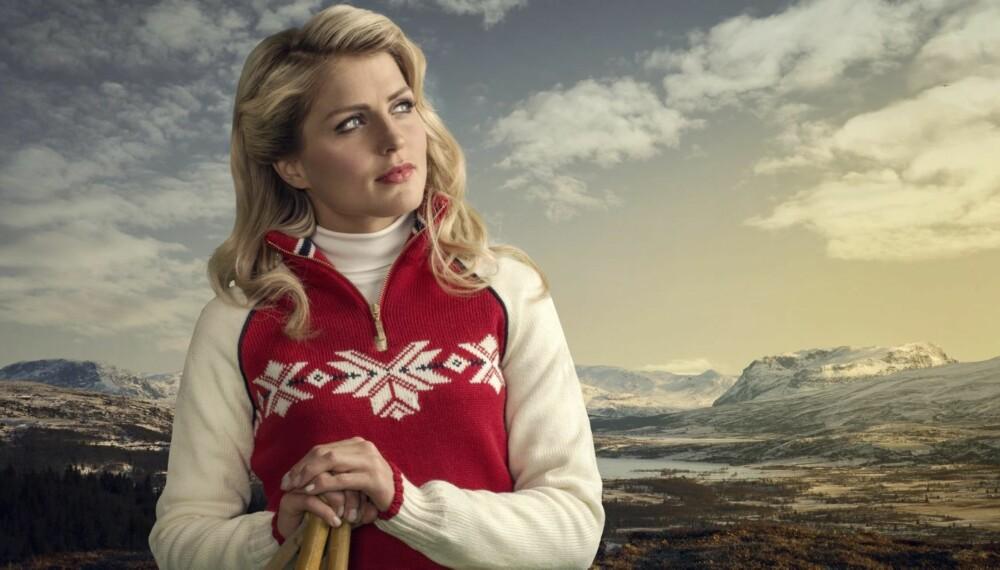 Tenner håpet: Det er fremdeles noen måneder til Sochi-OL i 2014, men Therese Johaug klarer likevel å tenne OL-håpet med den nye OL-genseren.
