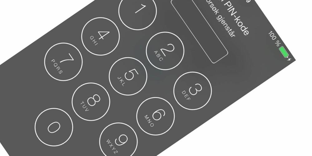 NY LÅSESKJERM: Den nye låseskjermen viser godt det nye og flate designet på iOS 7.