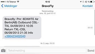 TIDSSTEMPEL: Nå får meldingene dine et tidsstempel i iOS 7 slik at du vet nøyaktig når en melding er sendt eller mottatt.