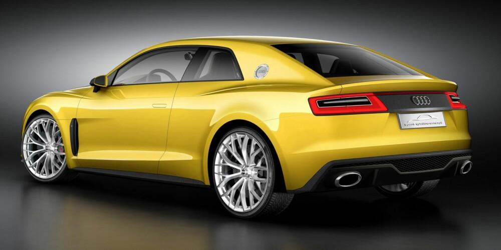 NY QUATTRO: Audi Sport Quattro Concept vises for første gang på bilmessen i Frankfurt nå i september. FOTO: Audi