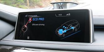 NYTT MODUS: Det drivstoffbesparende Eco Pro-moduset er nytt.