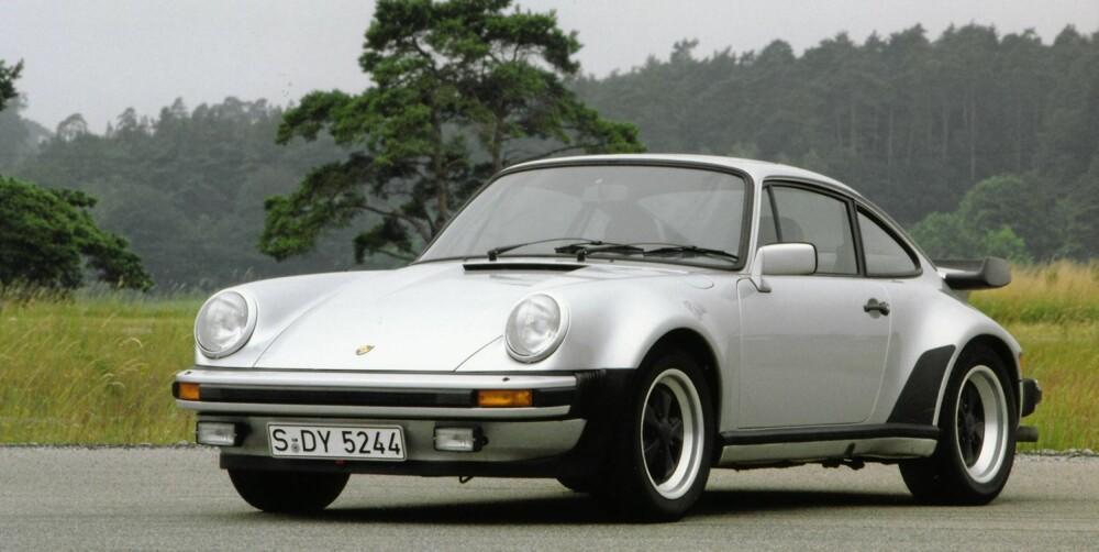 TURBO-VERSTING: Porsche 911 er en selvsagt bil å inkludere i en sak som dette. Her representert fra en Turbo-modell fra 1980.