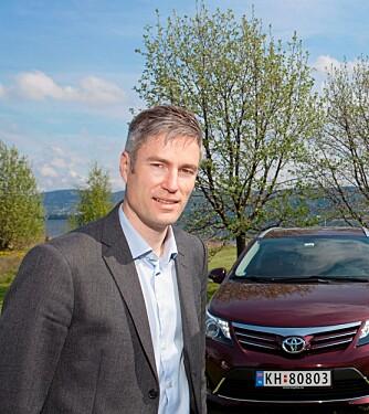 UNDRENDE: Informasjonssjef i Toyota Norge, Espen Olsen.